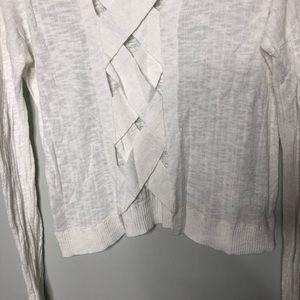 Feel The Piece Sweaters - Feel The Piece White Crop Cross Cross Back Sweater